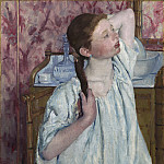 Girl Arranging Her Hair, Mary Cassatt