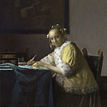 Johannes Vermeer - A Lady Writing, National Gallery of Art (Washington)