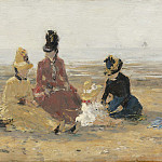 On the Beach, Trouville, Eugene Boudin