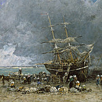 National Gallery of Art (Washington) - Eugene Boudin - Return of the Terre-Neuvier