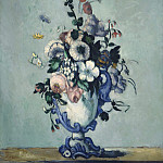 Paul Cezanne - Flowers in a Rococo Vase, National Gallery of Art (Washington)