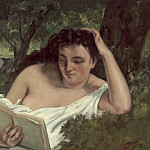 A Young Woman Reading, Gustave Courbet