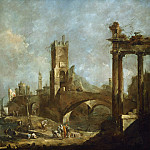 Francesco Guardi - Capriccio of a Harbor, National Gallery of Art (Washington)