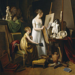Louis-Leopold Boilly - A Painter's Studio, National Gallery of Art (Washington)