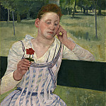 Mary Cassatt - Woman with a Red Zinnia, National Gallery of Art (Washington)