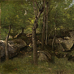 Rocks in the Forest of Fontainebleau, Jean-Baptiste-Camille Corot