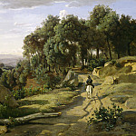 Jean-Baptiste-Camille Corot - A View near Volterra, National Gallery of Art (Washington)