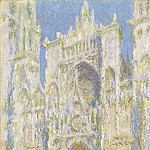 Claude Monet - Rouen Cathedral, West Facade, Sunlight, National Gallery of Art (Washington)