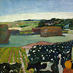 Paul Gauguin - Haystacks in Brittany, National Gallery of Art (Washington)
