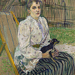 Lady with a Dog, Henri De Toulouse-Lautrec