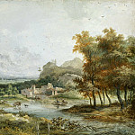 Louis Gabriel Moreau the Elder – Italian Landscape with a Boating Party, National Gallery of Art (Washington)