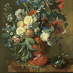 Flowers in an Urn, Jan Van Huysum