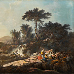 National Gallery of Art (Washington) - Jean-Baptiste Pillement - Shepherds Resting by a Stream