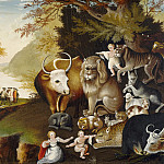 National Gallery of Art (Washington) - Edward Hicks - Peaceable Kingdom