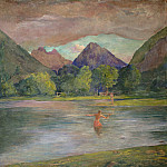 National Gallery of Art (Washington) - John La Farge - The Entrance to the Tautira River, Tahiti