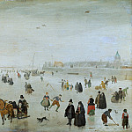 Hendrick Avercamp - A Scene on the Ice, National Gallery of Art (Washington)