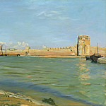 Frederic Bazille - The Ramparts at Aigues-Mortes, National Gallery of Art (Washington)