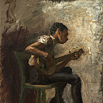 Study for Negro Boy Dancing: The Banjo Player, Thomas Eakins