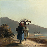 Two Women Chatting by the Sea, St. Thomas, Camille Pissarro