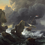 National Gallery of Art (Washington) - Ludolf Backhuysen - Ships in Distress off a Rocky Coast