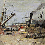 Eugene Boudin - The Trawlers, National Gallery of Art (Washington)