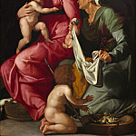 Jacopino del Conte - Madonna and Child with Saint Elizabeth and Saint John the Baptist, National Gallery of Art (Washington)