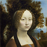 National Gallery of Art (Washington) - Leonardo da Vinci - Ginevra de' Benci [obverse]