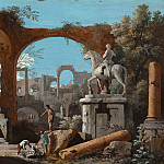 National Gallery of Art (Washington) - Marco Ricci - A Capriccio of Roman Ruins