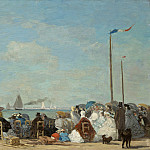 Beach Scene at Trouville, Eugene Boudin