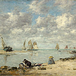 Eugene Boudin - Washerwoman near Trouville, National Gallery of Art (Washington)