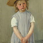 Child in a Straw Hat, Mary Cassatt