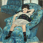 Mary Cassatt - Little Girl in a Blue Armchair, National Gallery of Art (Washington)