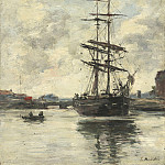 Ship on the Touques, Eugene Boudin