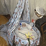Claude Monet - The Cradle - Camille with the Artist's Son Jean, National Gallery of Art (Washington)