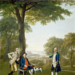 Arthur Devis - Arthur Holdsworth Conversing with Thomas Taylor and Captain Stancombe by the River Dart, National Gallery of Art (Washington)