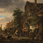 Isack van Ostade - Workmen before an Inn, National Gallery of Art (Washington)