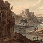National Gallery of Art (Washington) - Robert Adam - River Landscape with a Castle