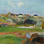 Landscape at Le Pouldu, Paul Gauguin