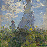 Woman with a Parasol, Claude Oscar Monet