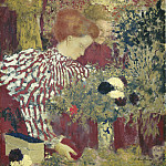 Edouard Vuillard - Woman in a Striped Dress, National Gallery of Art (Washington)