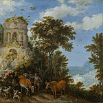 Roelandt Savery - Landscape with the Flight into Egypt, National Gallery of Art (Washington)