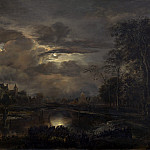 National Gallery of Art (Washington) - Aert van der Neer - Moonlit Landscape with Bridge