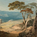 National Gallery of Art (Washington) - John Varley - Harlech Castle and Snowdon