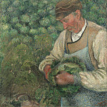 Camille Pissarro - The Gardener - Old Peasant with Cabbage, National Gallery of Art (Washington)