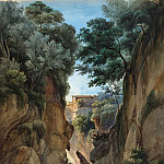 Attributed to Achille-Etna Michallon - View of a Waterfall through a Ravine, National Gallery of Art (Washington)