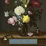 Ambrosius Bosschaert the Elder - Bouquet of Flowers in a Glass Vase, National Gallery of Art (Washington)