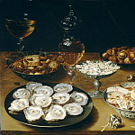 Osias Beert the Elder - Dishes with Oysters, Fruit, and Wine, National Gallery of Art (Washington)