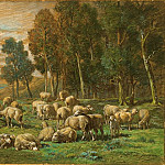 Charles Emile Jacque - The Shepherdess, National Gallery of Art (Washington)