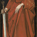 Master of the Starck Triptych – Saint Catherine [right wing exterior], National Gallery of Art (Washington)