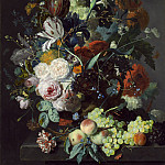 Still Life with Flowers and Fruit, Jan Van Huysum